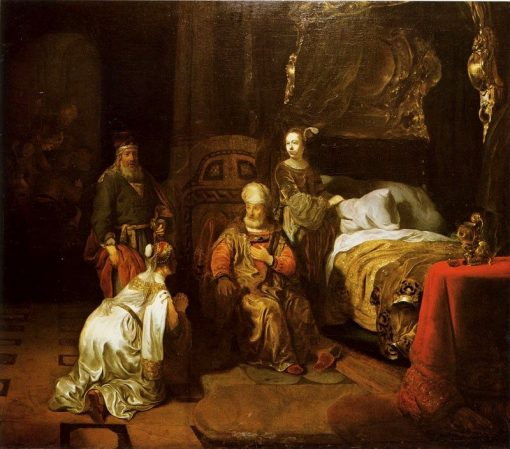 David Promises Bathsheba that Solomon will be His Successor | Gerbrand van den Eeckhout | Oil Painting