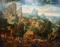 Landscape with a Foundry | Herri met de Bles | Oil Painting