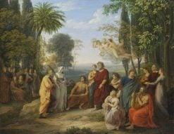 Klopstock?v p?ichod do Elysea   Joseph Abel   Oil Painting
