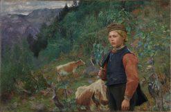 Vinje as a Shepherd Boy | Christian Skredsvig | Oil Painting