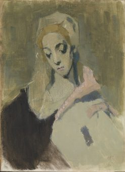 Min verdslige madonna (The Madonna)   Helene Schjerfbeck   Oil Painting