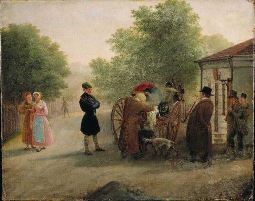 A Customs Station in old Oslo | Johannes Flintoe | Oil Painting