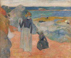 On the Beach   Paul Gauguin   Oil Painting