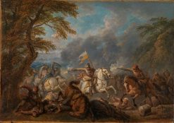 Cavalry Battle | Pieter van Bloemen | Oil Painting