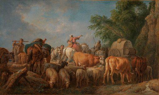 A Cattle Transport   Pieter van Bloemen   Oil Painting