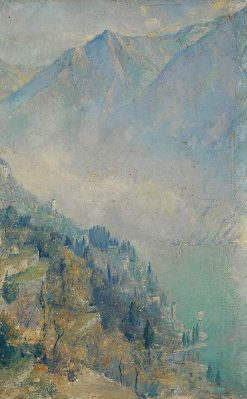 Morning mists on Lake Como | Tom Roberts | Oil Painting
