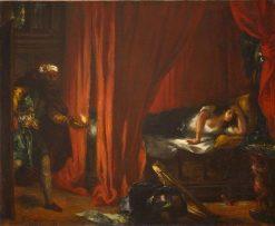 Othello and Desdemona   Eugene Delacroix   Oil Painting
