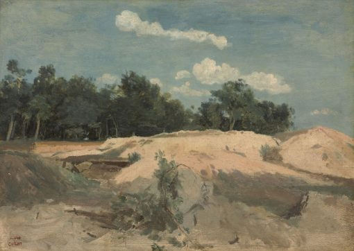 Oaks and Sand in the Sun | Jean Baptiste Camille Corot | Oil Painting