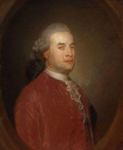 Portrait of a Man in a Red Coat   Jean Baptiste Perronneau   Oil Painting