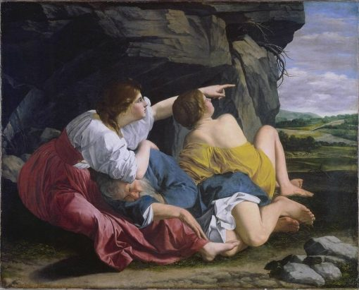 Lot and His Daughters | Orazio Gentileschi | Oil Painting