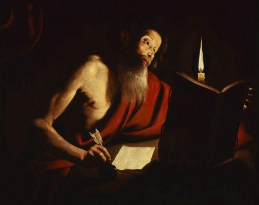 St Jerome Writing   Trophime Bigot   Oil Painting