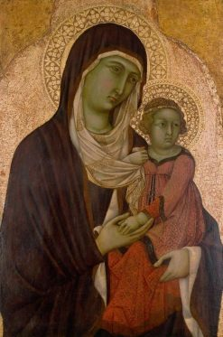 Saint Anne and the Infant Virgin | Ugolino di Nerio | Oil Painting