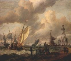 Shipping | Abraham Jansz. Storck | Oil Painting