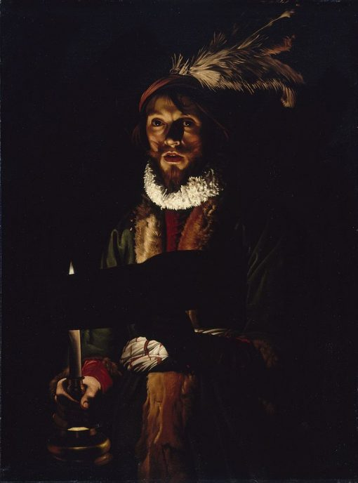 Man Singing by Candlelight | Adam de Coster | Oil Painting