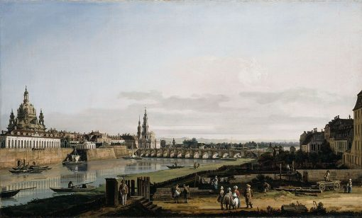 Dresden from the Right Bank of the Elbe above the Augustus Bridge | Bernardo Bellotto | Oil Painting