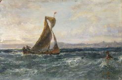 A View of Dublin Bay | Edwin Hayes RHA RI ROI | Oil Painting