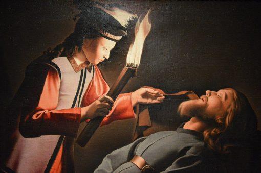 The Image of Saint Alexis   Georges de La Tour   Oil Painting