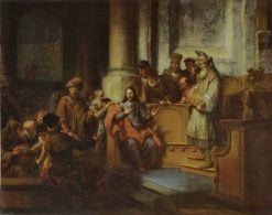 Christ Teaching in the Synagogue of Nazareth | Gerbrand van den Eeckhout | Oil Painting