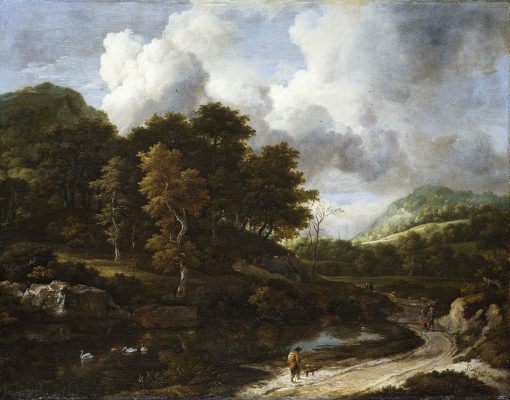 A Wooded Landscape | Jacob van Ruisdael | Oil Painting