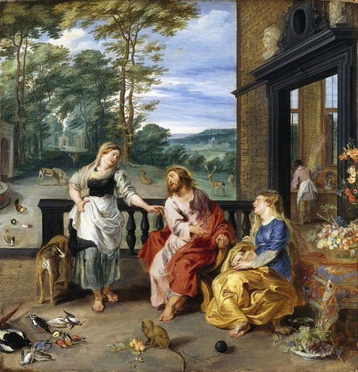 Christ in the House of Martha and Mary | Jan Brueghel the Younger | Oil Painting