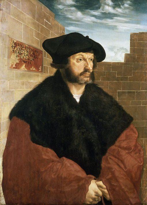 Portrait of Anton Hundertpfundt   Wolf Huber   Oil Painting