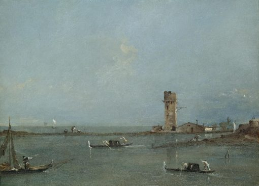Gates of Venice (View of the Venetian lagoon with the Tower of Marghera) | Francesco Guardi | Oil Painting
