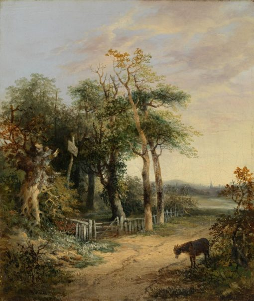 Landscape with a Donkey   James Stark   Oil Painting