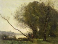 The Bent Tree | Jean Baptiste Camille Corot | Oil Painting