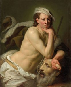 Self Portrait as David with the Head of Goliath | Johann Zoffany | Oil Painting