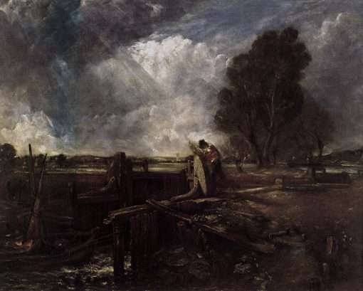 A Boat at the Sluice | John Constable | Oil Painting