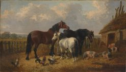 Horses and Pigs | John Frederick Herring