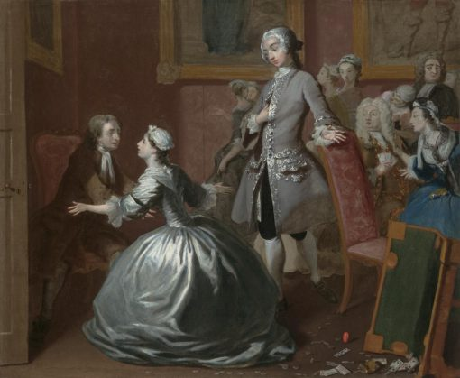 Pamela Greets Her Father   Joseph Highmore   Oil Painting