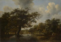 The Old Oak | Meindert Hobbema | Oil Painting