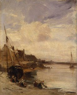 Low Tide at Boulogne | Richard Parkes Bonington | Oil Painting