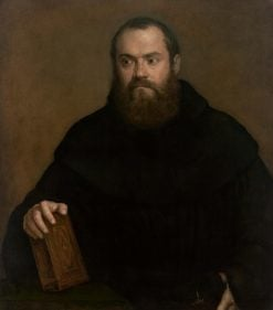Monk with a Book | Titian | Oil Painting