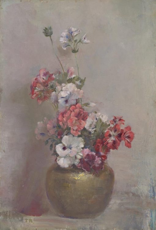 Pelargoniums | Tom Roberts | Oil Painting