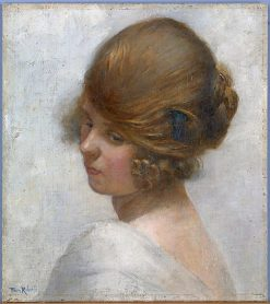 Girl's Head | Tom Roberts | Oil Painting