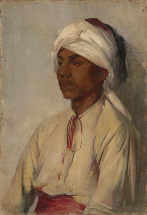 A Turbaned Man | Tom Roberts | Oil Painting