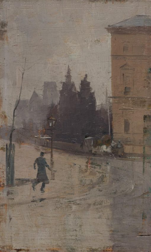 By the Treasury | Tom Roberts | Oil Painting
