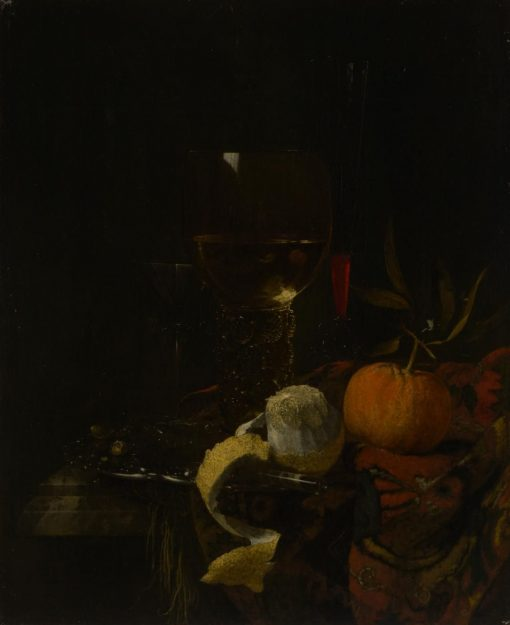 Still Life with Glasses and Fruit | Willem Kalf | Oil Painting