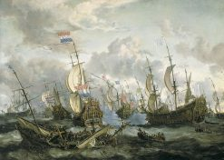 """The """"Royal Prince"""" and Other Vessels at the Four Days' Battle 1-4 June 1666 