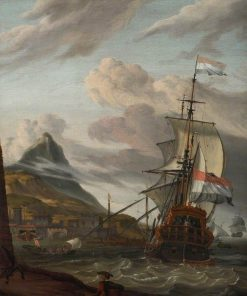 A Dutch Ship Entering a Mediterranean Port | Abraham Jansz. Storck | Oil Painting