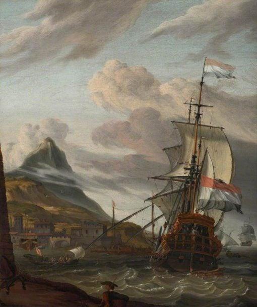 A Dutch Ship Entering a Mediterranean Port | Abraham Jansz. Storck | Oil Painting