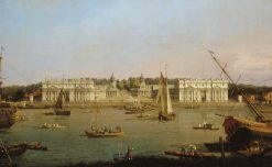 Greenwich Hospital from the North Bank of the Thames | Canaletto | Oil Painting