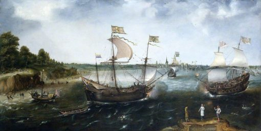 A Dutch Merchantman Attacked by an English Privateer