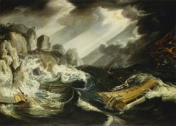 The Wreck of the 'Amsterdam' | Cornelis van Wieringen | Oil Painting