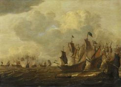 Battle of the First Dutch War (1652-54) | Dutch School th Century   Unknown | Oil Painting