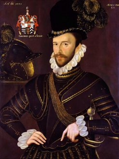 Portrait of Richard Drake (1535-1603) | George Gower | Oil Painting