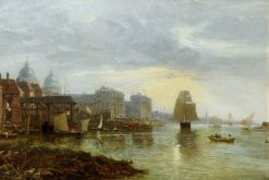 Greenwich Hospital from the East | James Holland | Oil Painting