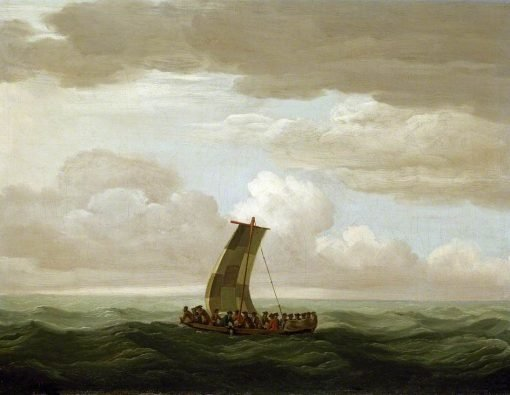 Escape from the 'Luxborough' Galley   John Cleveley the Elder   Oil Painting